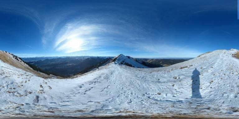 Winterlandschaft 360 Grad