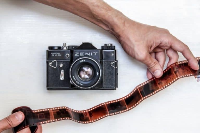 Analoge Kamera mit Film