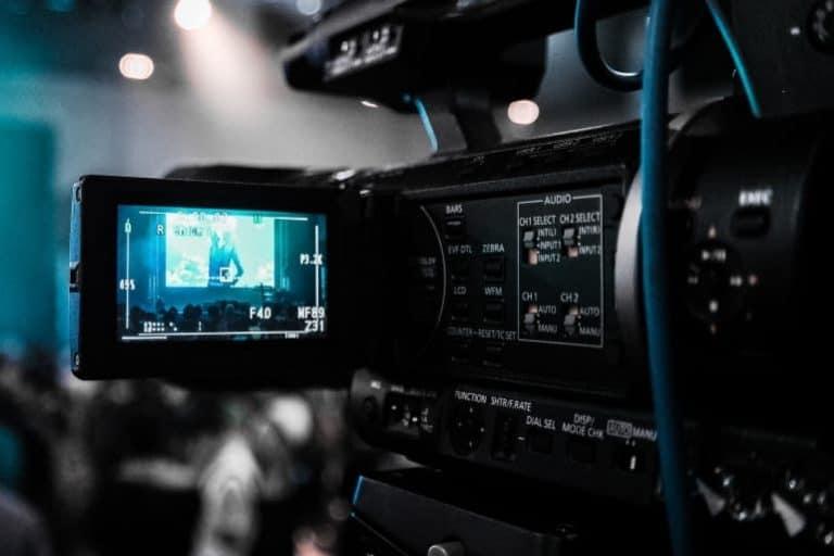 Filmkamera im Einsatz