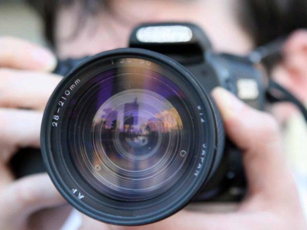 Nahaufnahme Linse Spiegelreflexkamera