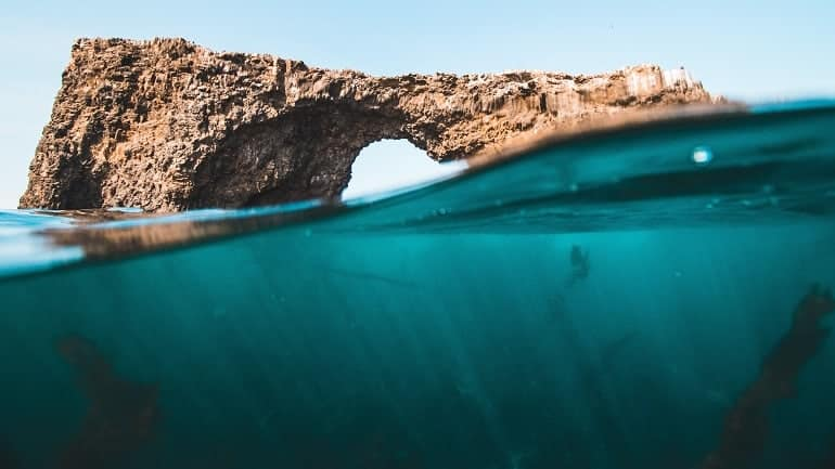 Unterwasserkamera Fels