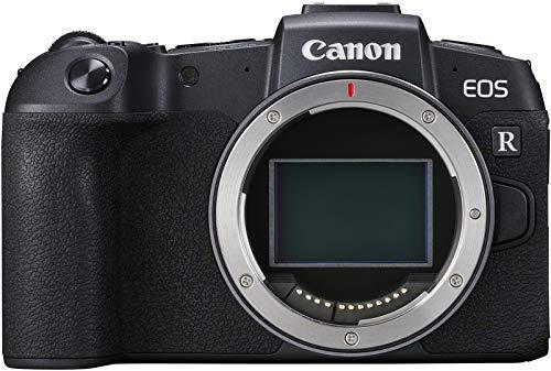 Canon EOS RP Vollformat Systemkamera Gehäuse (spiegellos, 26,2 MP, 7,5cm (3 Zoll) Clear View LCD II Display, Digic 8, 4K Video, WLAN, Bluetooth), schwarz