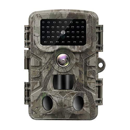 VANBAR Wildkamera 20MP 1080P Full HD Wildkamera mit Bewegungsmelder Nachtsicht IP66 Wasserdichter und 0,2s Schnelle Trigger Geschwindigkeit Nachtsicht Wildkamera für die Überwachung von Wildtieren
