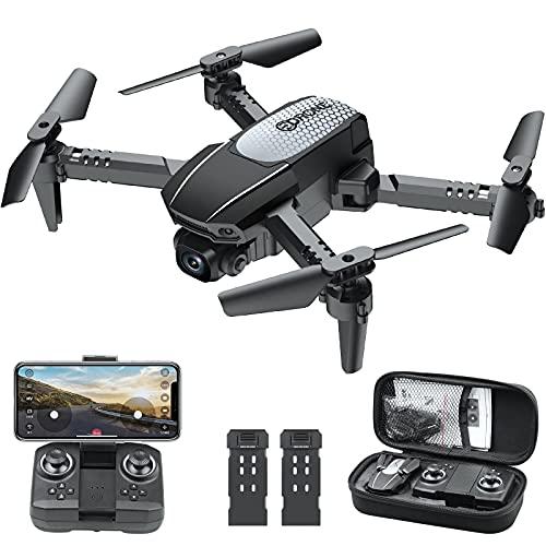 BeaSaff Drohne mit 1080P Kamera HD Live Übertragung, RC FPV Quadrocopter mit 2 Akkus, 3D Flip, One Key Start/Landen, Handysteuerung, Gestenfoto, Höhenhaltung, Headless Modus für Anfänger